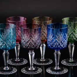 Разноцветные бокалы для вина, 6 шт, Германия, сер. 20 в