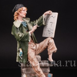 Фарфоровая статуэтка Художник, Capodimonte, Италия, вт пол. 20 века.