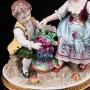 Фигурка из фарфора Дети с виноградом, аллегория осени, Sitzendorf, Германия, вт. пол. 20 в.